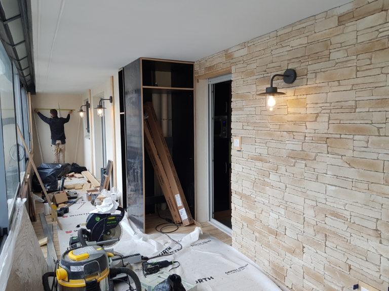 1 montage plancher et mobilier